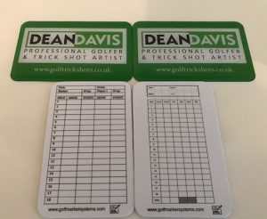 Waterproof Bag Tags and Scorecards for professional golfer
