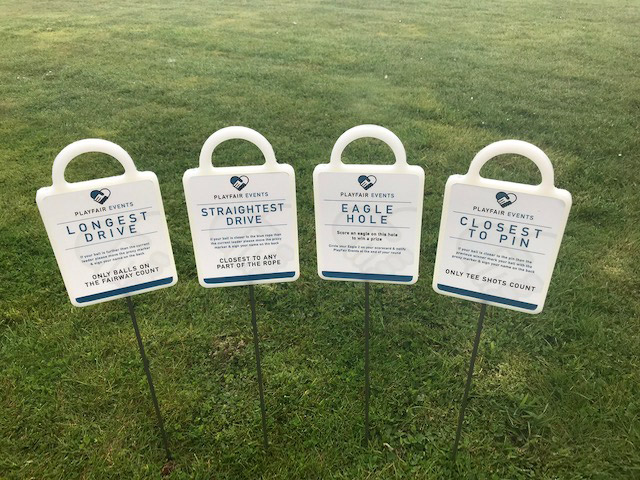 Playfair Events Corporate Markers by GMS Golf Marker Systems