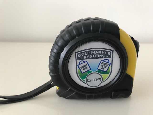 Custom Tape measure from Golf Marker Systems