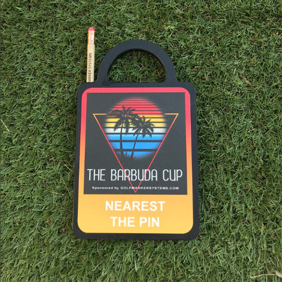 The Barbuda Cup Charity Golf Markers by GMS