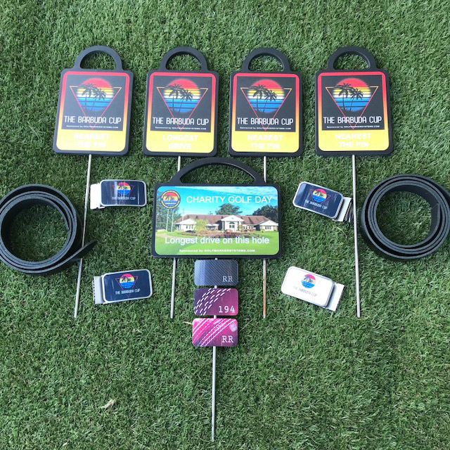Charity golf markers and belt