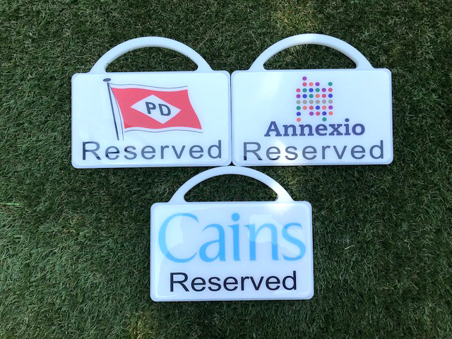 Reserved Custom car park markers for your Golf Course