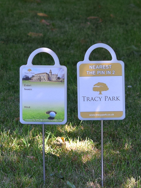Bespoke golf markers for Tracy Park