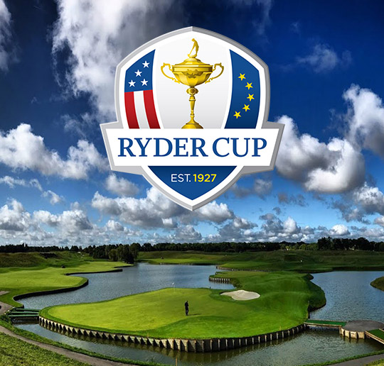Logo and graphic for the 2018 Ryder Cup