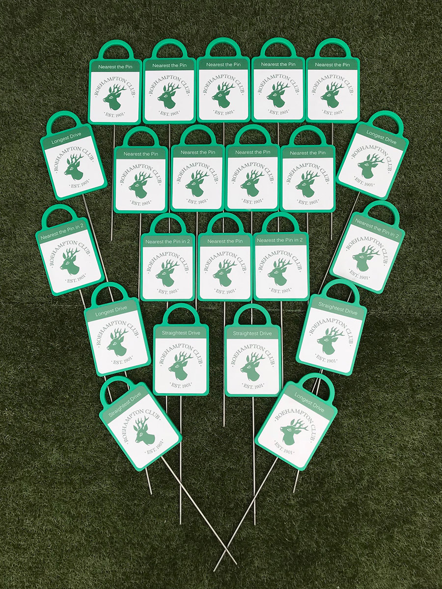 GMS golf markers for Roehampton golf club