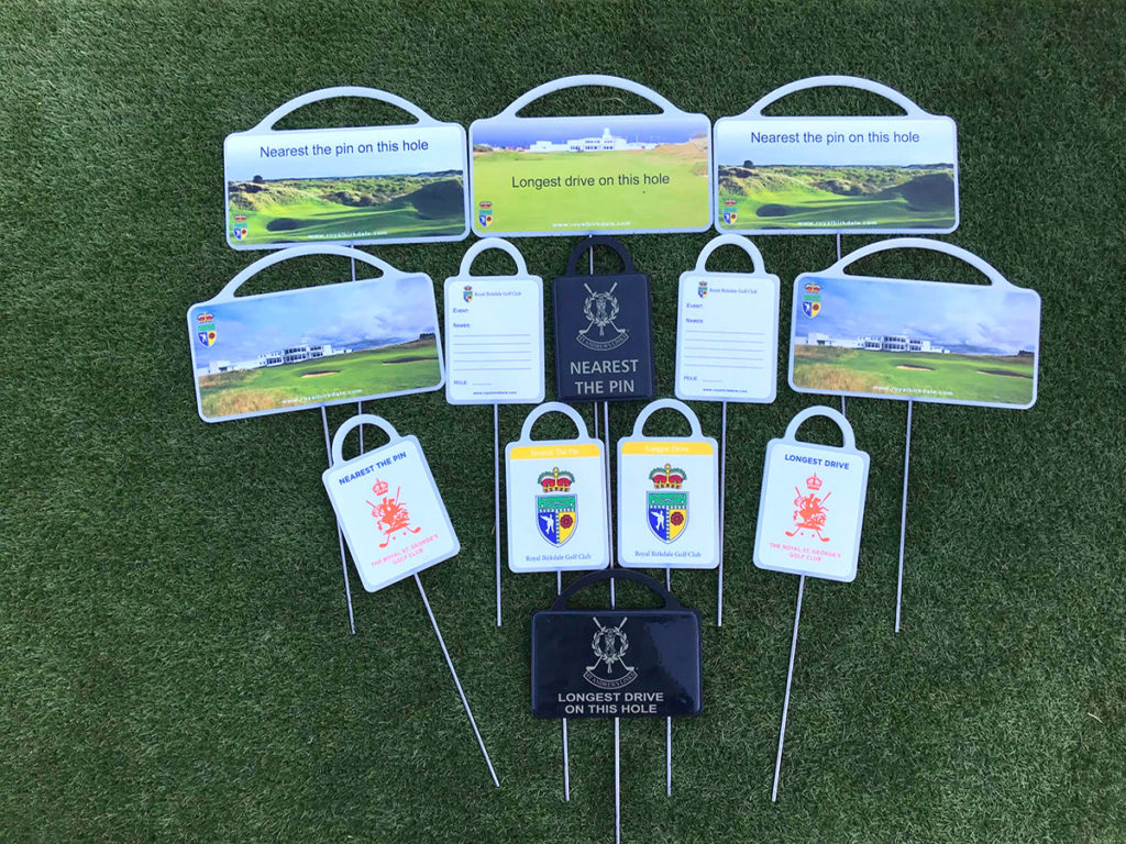 Nearest the pin and longest drive markers for British host golf open venues