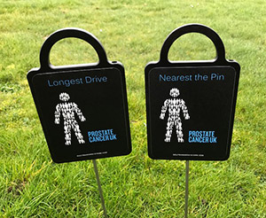 Charity Golf Markers donated to Prostrate Cancer UK by Golf Marker Systems