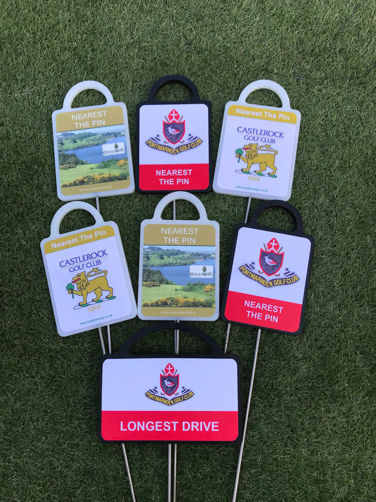 Golf markers for courses in Ireland