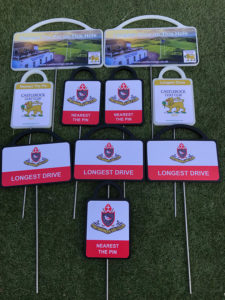 A range of golf markers for Irish clubs