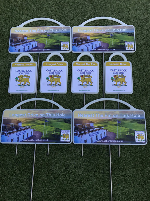 Golf markers for Castlerock Golf Club by GMS