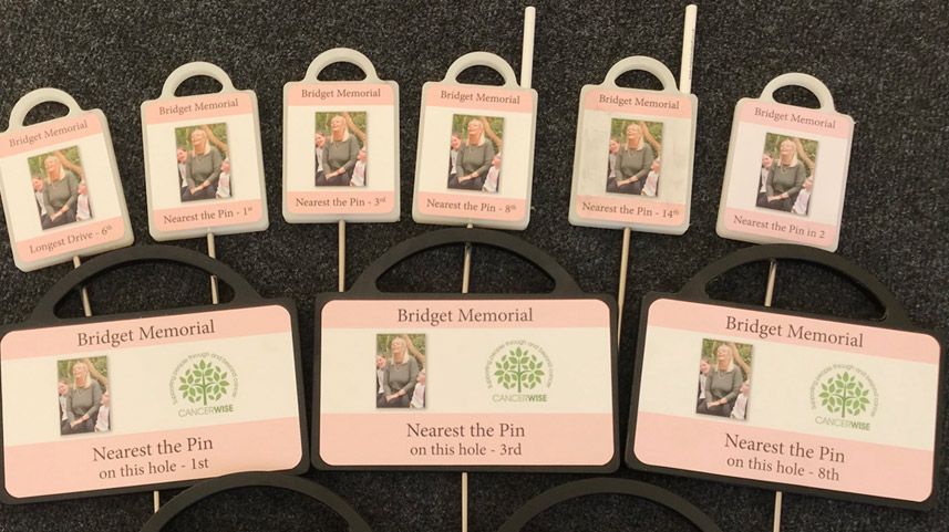 Bridget Memorial golf markers by Golf Marker Systems