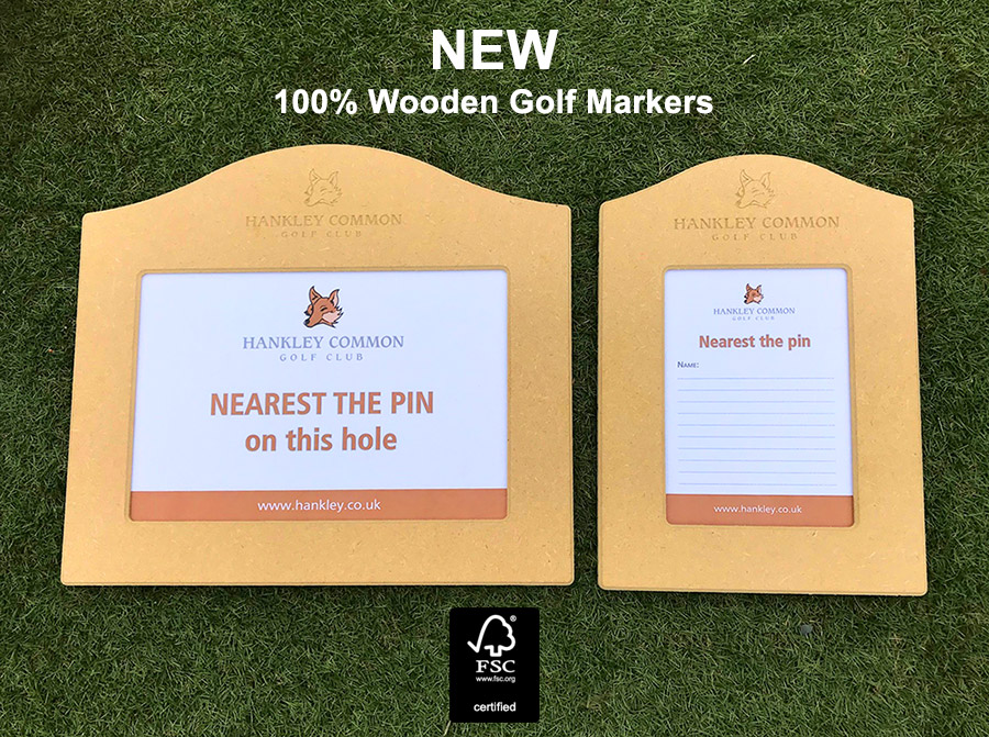 New Wooden Golf markers by GMS
